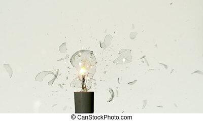 Arrow shooting through light bulb