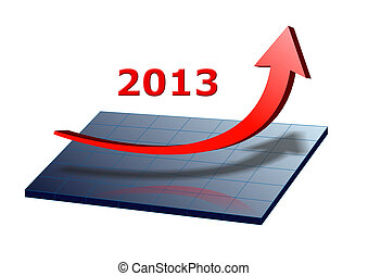 arrow shows success and growth for 2013