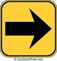 Arrow sign button.