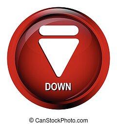 Arrow sign button icon