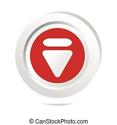 Arrow sign button icon