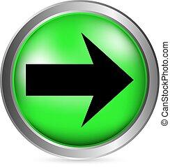 Arrow sign button
