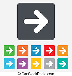 Arrow sign icon. Next button. Navigation symbol
