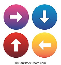 Arrow sign icon set vector