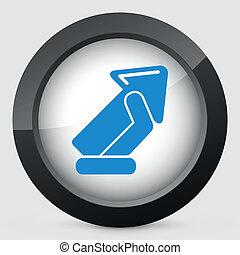 Arrow sign icon
