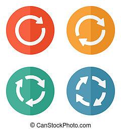 arrow sign reload refresh rotation loop pictogram.