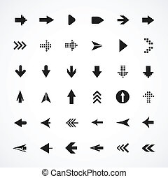 Arrow sign silhouettes collection