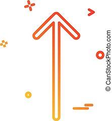 arrow sign up icon vector desige