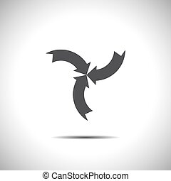 arrow sign vector icon
