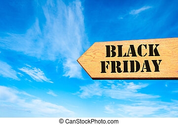 Arrow sign with Black Friday message