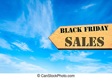 Arrow sign with Black Friday Sales message