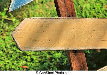 Arrow sign wood vintage.