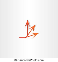 arrow spread vector icon design