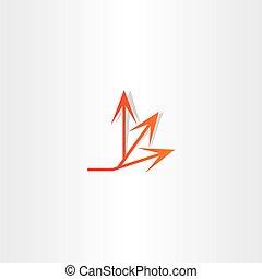 arrow spread vector icon design