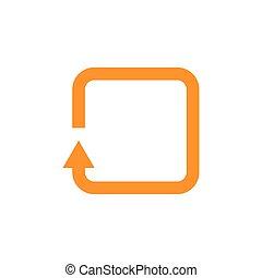 arrow square vector icon illustration