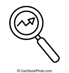 arrow statistics with magnifying glass line style