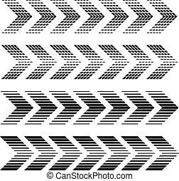 arrow strip black symbols