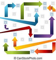 Arrow Style Chart - An image of an arrow style chart.