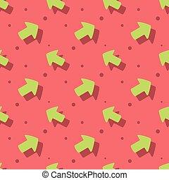 Arrow Symbol Cute Style Flat Seamless Pattern
