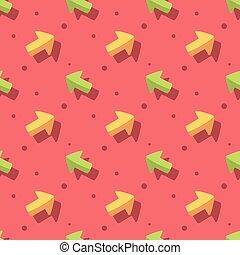 Arrow Symbol Cute Style Seamless Pattern