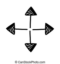 arrow thin all directions line style icon