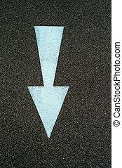 arrow to guide