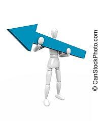 Arrow to success. 3d illustration