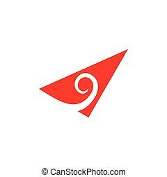 arrow triangle unique unusual logo vector
