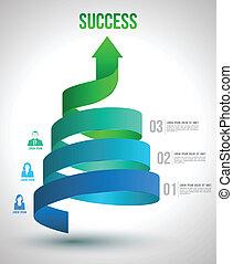 Arrow twist up to success. - Arrow twist up to success...