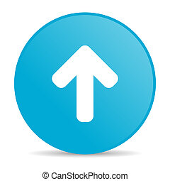 arrow up blue circle web glossy icon