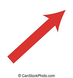 arrow up growth icon isolated vector illustration