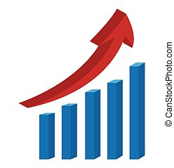 arrow up growth icon vector illustration design
