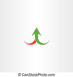 arrow up growth symbol vector sign