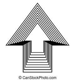 arrow up icon design