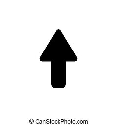 arrow up icon isolated black on white background