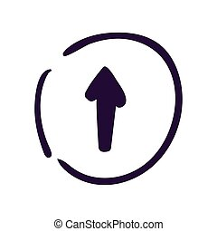 Arrow up icon on white background Vector illustration