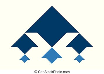 arrow up logo icon vector