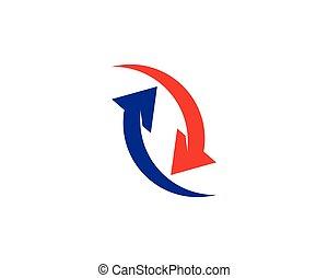 Arrow vector illustration icon logo template design