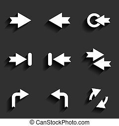 Arrow vector sign icon set