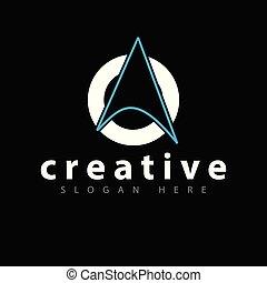 Arrow with circle logo icon vector template