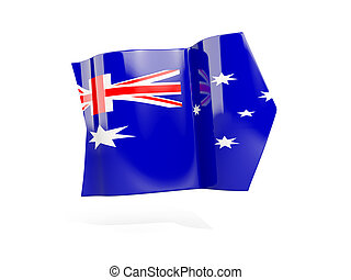 Arrow with flag of australia