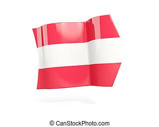 Arrow with flag of austria