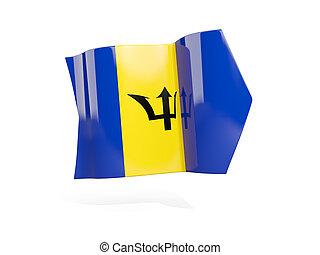 Arrow with flag of barbados