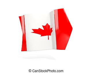 Arrow with flag of canada
