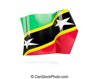 Arrow with flag of saint kitts and nevis