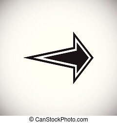 Arrow with outline on white background