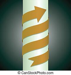 arrow wrapped around the pillar - illustration