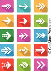 Arrow5 - Arrow icon Vector modern style for infographics and...