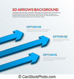 Arrows 3D background, infographic