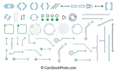 Arrows and infographic elements on the white background -...